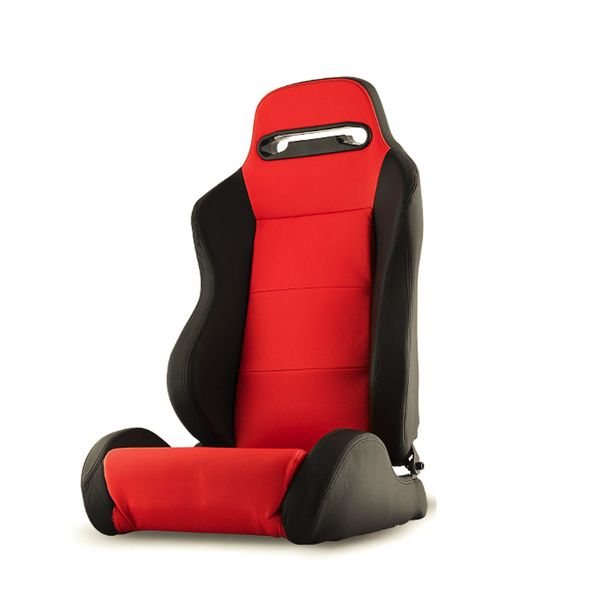 RST-TH-01-RD-PA Thunder Style Racing Seat PU (Double Slider) - Red/Black - Passenger Side