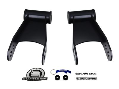"Supreme Suspension 1""-2"" Rear Drop Shackles for 1999-2007 Ford F-250 Super Duty 2WD and 4WD (1-2"" Adjustable Drop Shackles)"