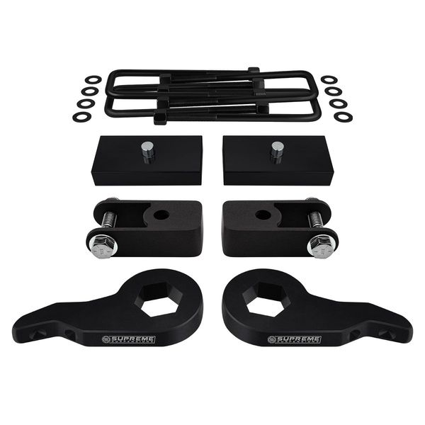 """Supreme Suspensions� 1999-2007 Chevrolet Silverado 1500 4WD 6-Lug 1-3"""" Front 1.5"""" Rear Lift Kit - Shock Extenders included CHSL99FK3015A"""