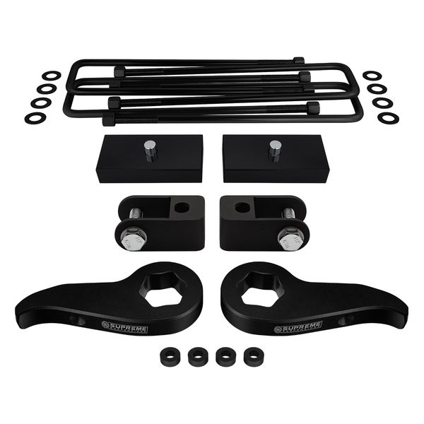 "Supreme Suspensions� 2011-2020 Chevrolet Silverado 2500HD / 3500HD 4WD 8-Lug 1-3"" Front 1"" Rear Lift Kit - Shock Extenders included CHSL11FK3010A"