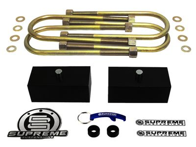 "Supreme Suspension 1.5"" Pro Billet Rear Lift Blocks for 2000-2013 Chevrolet Suburban 2500 2WD and 4WD (Fits 8-Lug Models Only)"