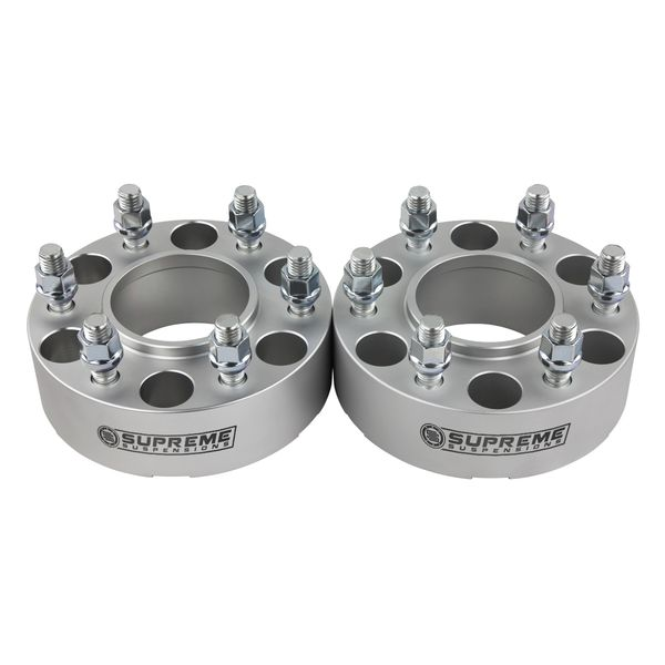 "Supreme Suspensions� 1995-1999 Chevrolet Tahoe 4WD Only / 2000-2020 Chevrolet Tahoe 2WD 4WD 2"" PRO Billet Wheel Spacer Set of 2 CHTA92WC2000S"