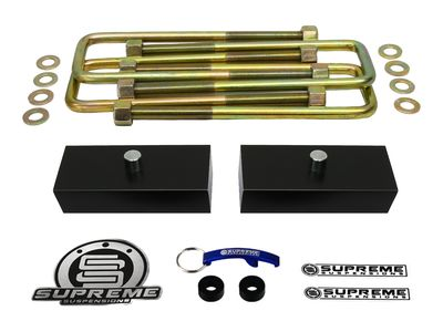 """Supreme Suspension 1"""" Pro Billet Rear Lift Blocks for 2000-2013 Chevrolet Suburban 2500 2WD and 4WD (Fits 8-Lug Models Only)"""