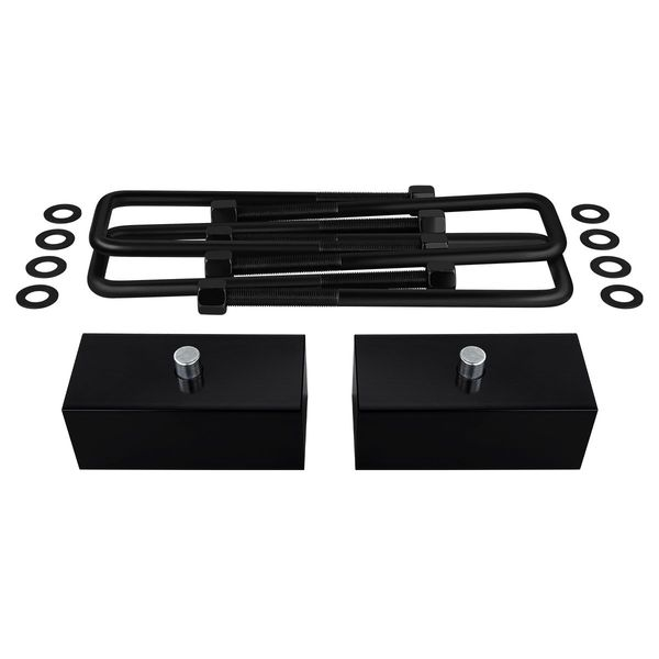 "Supreme Suspensions� 1992-1999 Chevrolet Suburban 2500 8-Lug 1.5"" PRO Billet Rear Lift Blocks & Extended U-Bolts CHSU99RL0015"