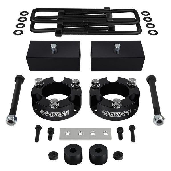 "Supreme Suspensions� 1995-2004 Toyota Tacoma 4WD 2.5"" Front 2"" Rear PRO Billet Lift Kit - Diff Drop / Brake Line Relocation Bracket Included TYTA95FK2520"