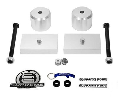 """Supreme Suspension 2"""" Front 1"""" Rear Pro Billet Lift Kit for 2005-2016 Ford F-350 Super Duty 4WD (Does not come with U-bolts)"""