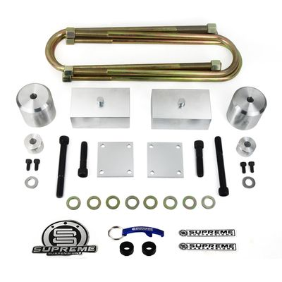 """Supreme Suspension 2"""" Front 1"""" Rear Pro Billet Overloads Lift Kit - Track Bar Drop spacer / Brake Line Relocate Included for 2005-2016 Ford F-250 Super Duty 4WD (Very Important: For Rear Overload Models Only)"""