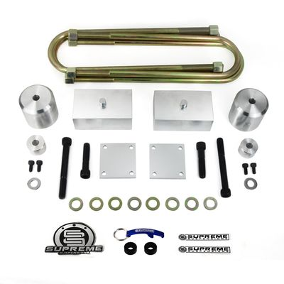 "Supreme Suspension 2"" Front 2"" Rear Pro Billet Non Overloads Lift Kit - Track Bar Drop spacer / Brake Line Relocate Included for 2005-2016 Ford F-250 Super Duty 4WD (Very Important: For Non-Overload Models Only)"