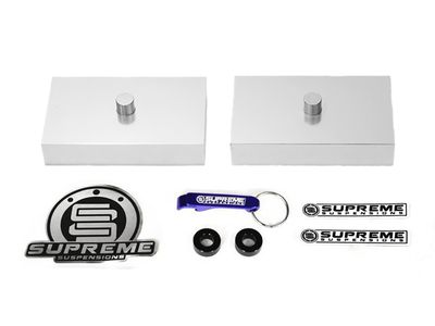 """Supreme Suspension 2"""" Pro Billet Rear Lift Blocks for 1999-2015 Ford F-250 Super Duty 2WD and 4WD"""