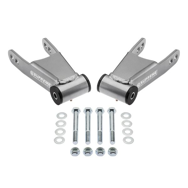 Supreme Suspensions 2004-2008 Ford F-150 2-inch Rear Drop Shackles