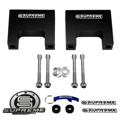 "Supreme Suspension 3"" Pro Billet Front Shock Lift Spacers for 1987-2004 Dodge Dakota 2WD and 4WD (Fits Front Only)"