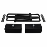 "Supreme Suspensions® 1988-1999 Chevrolet K1500 / K2500 / K3500 4WD 1"" PRO Billet Rear Lift Blocks & Extended U-Bolts CHKS88RL0010"