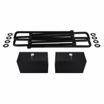 "Supreme Suspensions® 1988-1999 Chevrolet K1500 / K2500 / K3500 4WD 3"" PRO Billet Rear Lift Blocks & Extended U-Bolts CHKS88RL0030"