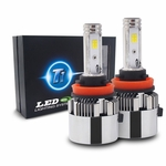 T1 LED Headlight Conversion Kit with Adjustable Beam Pattern - H11 (H8/H9/H11B) - Seoul CSP Y19 Chip - 72W, 7200LM 6K Cool White