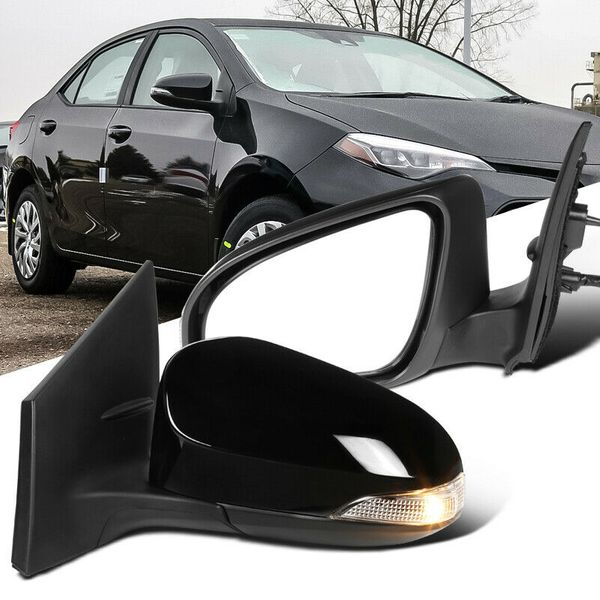 Toyota 14-18 Corolla Power Heated 7 Pin Side Mirrors+Turn Signal Left+Right