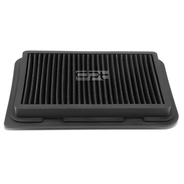 Toyota Corolla / Yaris / Scion xD / iM 1.5L / 1.8L Reusable & Washable Replacement High Flow Drop-in Air Filter (Black)