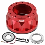 """Toyota Scion 2"""" 6-Bolt Anodized Aluminum Steering Wheel Hub Adapter Red"""