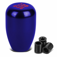 Universal 10x1.5 Aluminum Manual 5-Speed Shift Knob - Blue