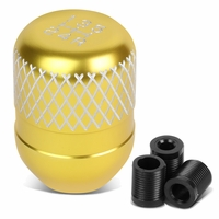 Universal 5-Speed GOld Anodized Aluminum Netted Racing Shift Knob