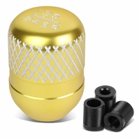 Universal 6-Speed Gold Anodized Aluminum Netted Racing Shift Knob