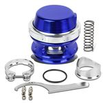 Universal Aluminum 50mm Turbo 35psi Blow Off Valve + V-Band Clamp+Spring - Blue