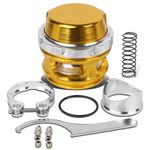 Universal Aluminum 50mm Turbo 35psi Blow Off Valve + V-Band Clamp+Spring - Gold
