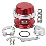 Universal Aluminum 50mm Turbo 35psi Blow Off Valve + V-Band Clamp+Spring - Red