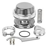 Universal Aluminum 50mm Turbo 35psi Blow Off Valve + V-Band Clamp+Spring - Silver