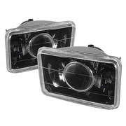Universal Sealed Beam 4X6 Projector Headlights (Size:4x6) - Black