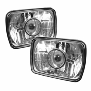 Universal Sealed Beam 4X6 Projector Headlights (Size:4x6) - Chrome