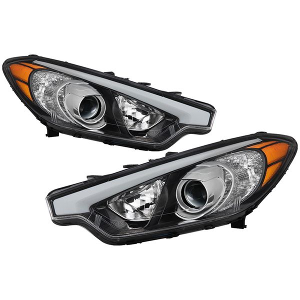 [W/O LED Position] 2014-2016 Kia Forte Forte5 Projector Headlights Headlamps Assembly