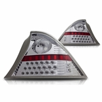 Winjet 01-03 Honda Civic 2Dr LED Tail Light - Chrome