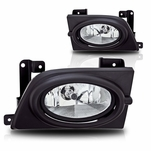 Winjet 06-08 Honda Civic 4D OEM Fog Lights With Wire Relay & Switch - Clear