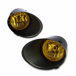Winjet 07-13 Toyota Tundra Metal Bumper Only Fog Light - Yellow Wiring Kit And Bezel Included