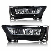 Winjet 13-15 Honda Accord 4Dr Fog Light - Clear Wiring Kit Included