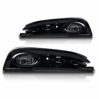 Winjet 13-15 Honda Civic 4Dr Fog Light - Clear Wiring Kit Included