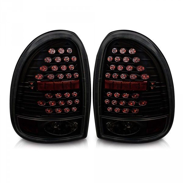 Winjet 1998 2003 Dodge Durango Led Tail Lights Black Smoked Click To Enlarge