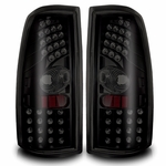Winjet 1999-2003 GMC Sierra LED Tail Light - Black/Smoke