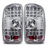 Winjet 2000-2006 GMC Yukon LED Tail Light - Chrome