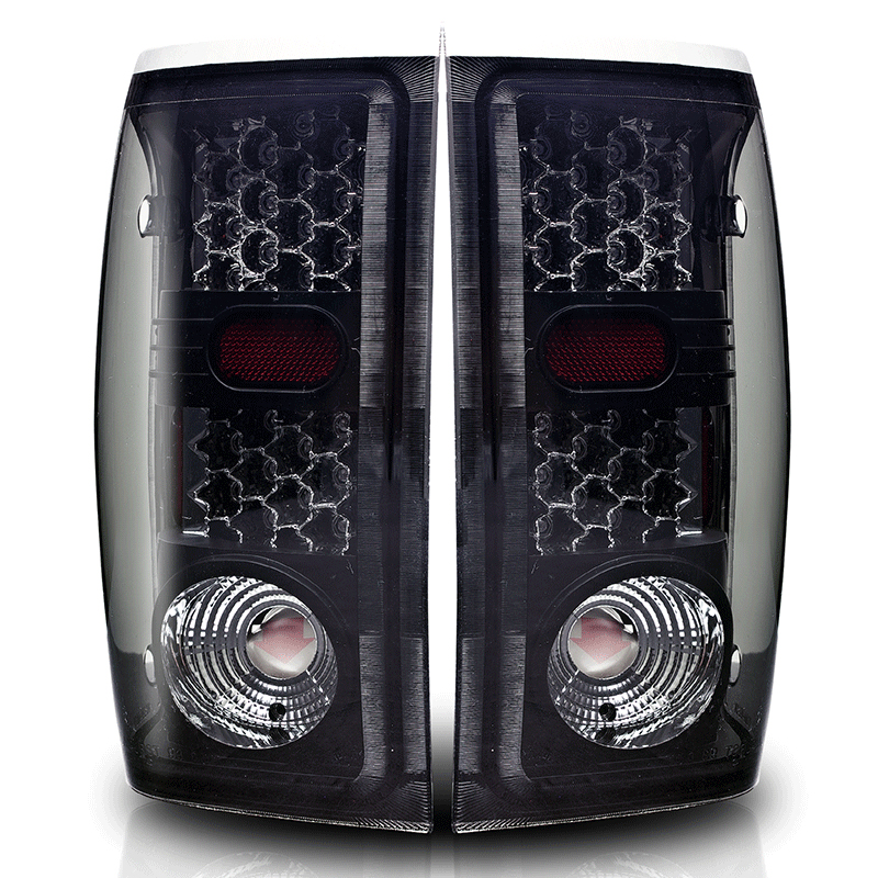 Winjet 2001 2005 Ford Ranger Performance Led Tail Lights Black Smoked Click To Enlarge