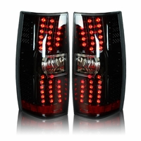 Winjet 2007-2013 Chevy Suburban / Tahoe LED Tail Lights - Glossy Black