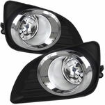 Winjet 2010-2011 Toyota Camry OEM Replacement Fog Lights - Wiring Kit Included - (Clear)