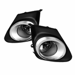 Winjet 2011-2013 Toyota Corolla OEM Replcaement Fog Lights - Wiring Kit Included - Clear