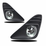 Winjet 2012-2014 Toyota Camry OEM Style Fog Lights - Wiring Kit Included - Clear