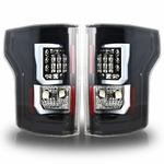 Winjet 2015 Ford F-150 LED Tail Light - Glossy Black