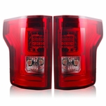 Winjet 2015 Ford F-150 LED Tail Light - Red Clear