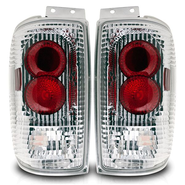 Winjet 97-02 Ford Expedition Altezza Tail Light - Chrome