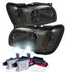 HID Xenon + 01-04 Toyota Tacoma LED DRL Replacement Headlights - Smoked
