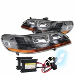 XENON HID KIT + 98-02 HONDA ACCORD 2/4DR JDM BLACK CRYSTAL HEADLIGHTS