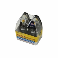 XTune 3000K Yellow 12V 100W Halogen Replacement Fog Light Bulbs (Pair)